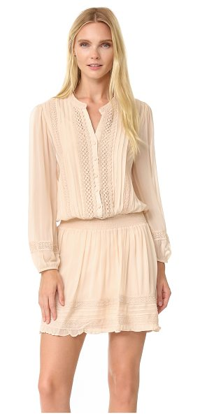 Joie pima dress in almond - Crocheted lace trim lends weight and texture to this...