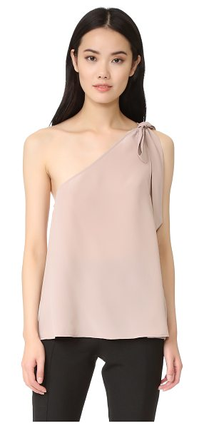 Joie romana top in dusty mink - A tie closure secures the single shoulder strap on this...