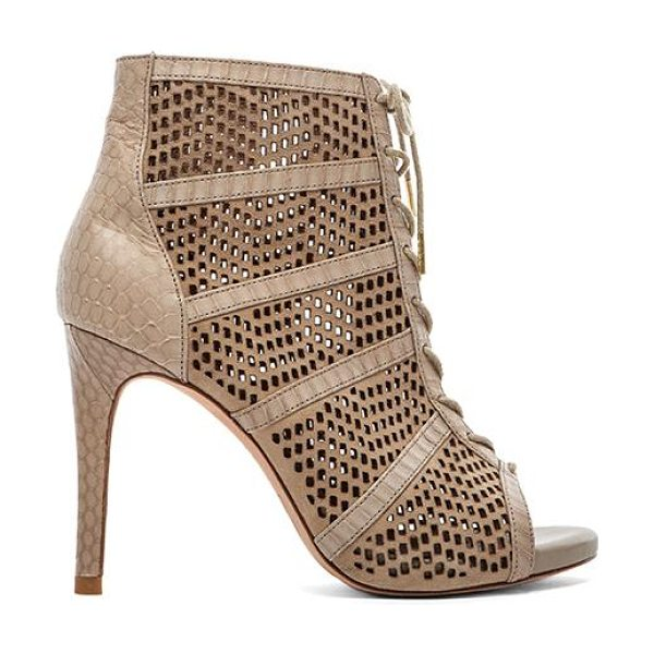 "Joie Shari bootie in beige - Leather upper and sole. Heel measures approx 4"""" H...."