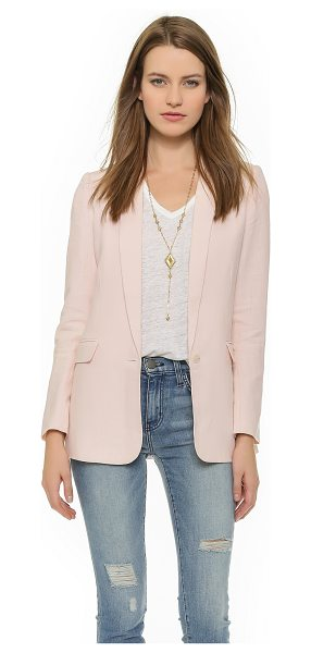 Joie Verene blazer in soft sand - A crisp linen Joie blazer, styled with slim, notched...