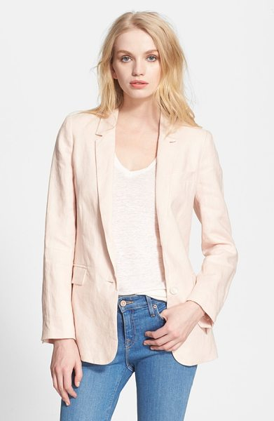 Joie verene linen jacket in soft sand - Layer an easy linen blazer over almost anything for a...