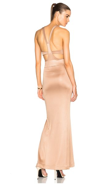Jonathan Simkhai Belted Milano Dress in nude - 74% viscose 26% polyLining: 90% poly 10% spandex. Made...