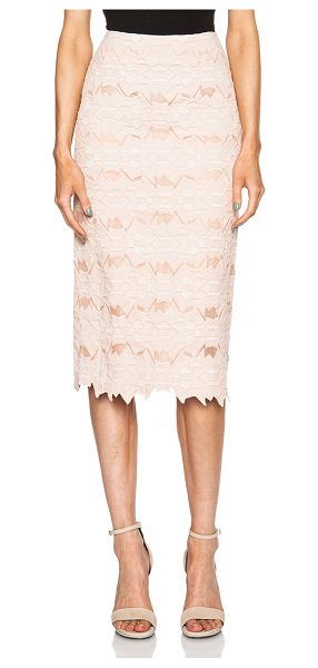 Jonathan Simkhai Burnout brocade pencil skirt in pink - Self: 90% cotton 10% nylon - Lining: 100% silk.  Made in...