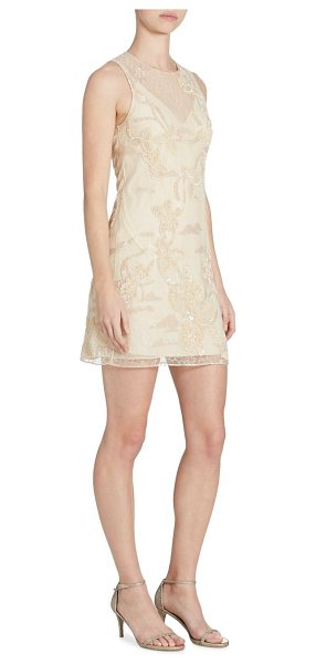 Jonathan Simkhai embellished lace dress in blush - Radiant sequins and lace detail this sleeveless dress....