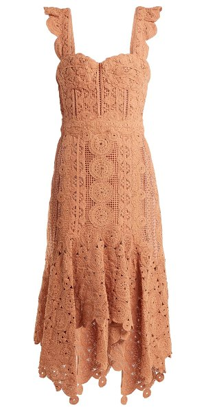 Jonathan Simkhai Cotton Macramé Lace Handkerchief Hem Dress in tan - Jonathan Simkhai - Flattering silhouettes and feminine...