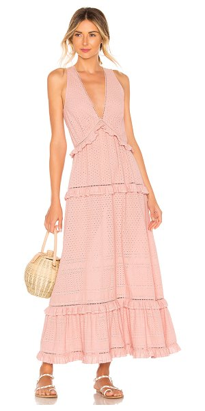 Jonathan Simkhai embroidered ruffle tank dress in rose - JONATHAN SIMKHAI Embroidered Ruffle Tank Dress in Rose....