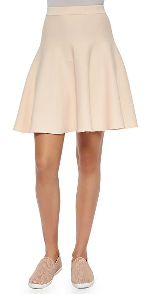 "Jonathan Simkhai Fit-and-flare knit skirt in ballet - Jonathan Simkhai knit skirt. Approx. measurements: 18""L..."