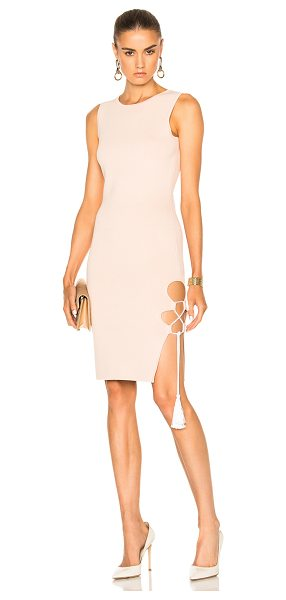 Jonathan Simkhai for FWRD Knit Lace-up Dress in neutrals - 51% acetate 46% viscose 3% elastan.  Made in China.  Dry...