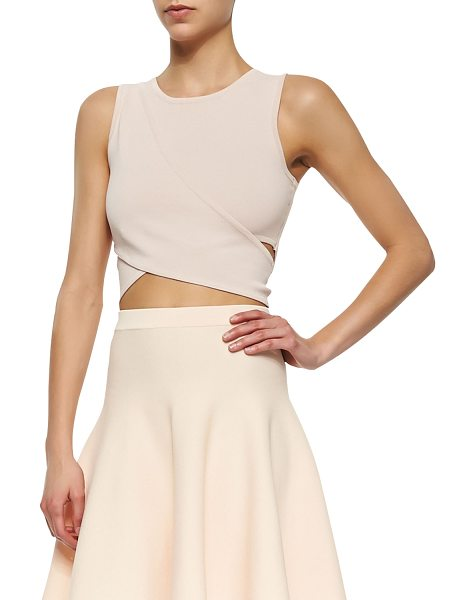 Jonathan Simkhai Knit crossover crop top in ballet