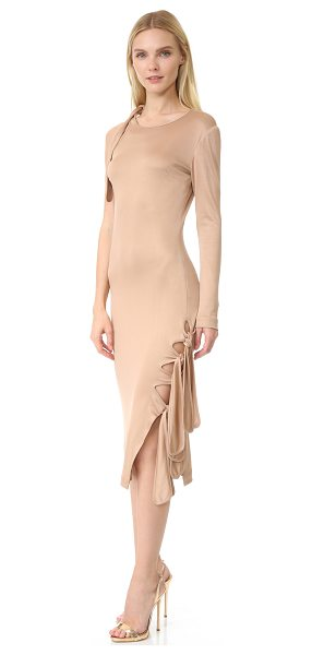 Jonathan Simkhai milano dress in nude - A slinky Jonathan Simkhai dress with long ties at the...