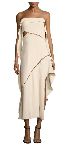 JONATHAN SIMKHAI beaded strapless dress - Pearly beads punctuate ruffled strapless dress. Straight...