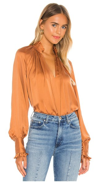 JONATHAN SIMKHAI STANDARD rue ruched front top in toffee