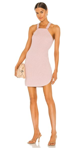 JoosTricot criss cross mini dress in patio pink