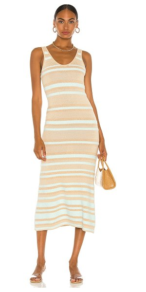 JoosTricot linen tank dress in beige & glacial