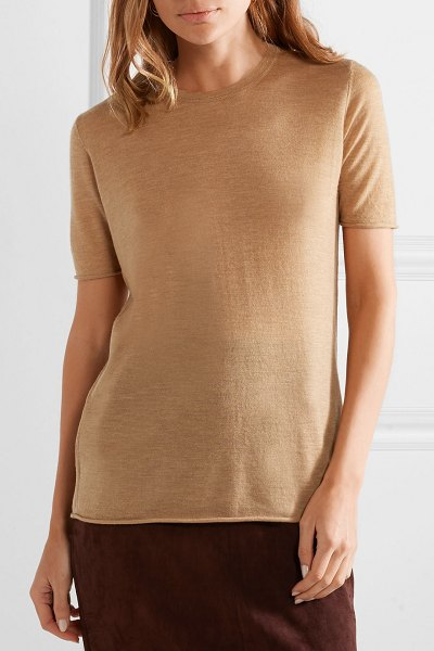Joseph cashmere sweater in camel - Joseph's short-sleeve sweater is perfect for those...