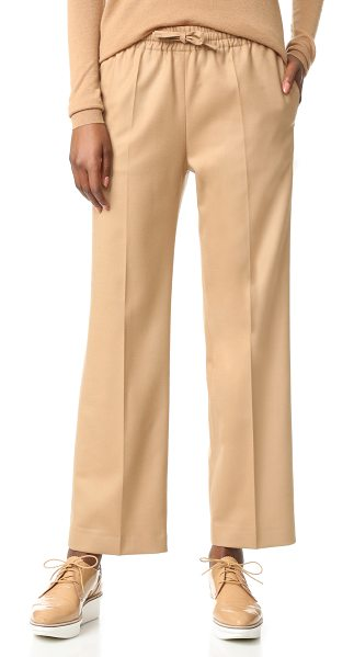 Joseph Joseph Lula Pants in camel - A slouchy cut brings sophisticated ease to these Joseph...