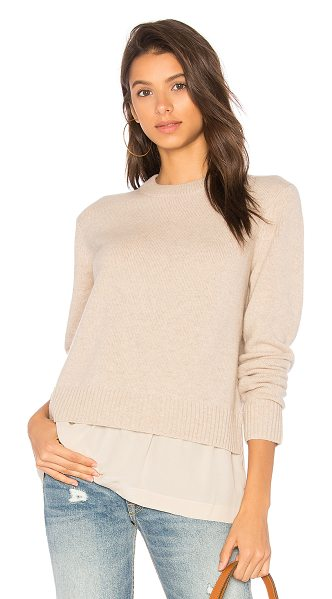 Joseph Round Neck Knit in tan - Cozy meets classic. Complete your everyday looks with...