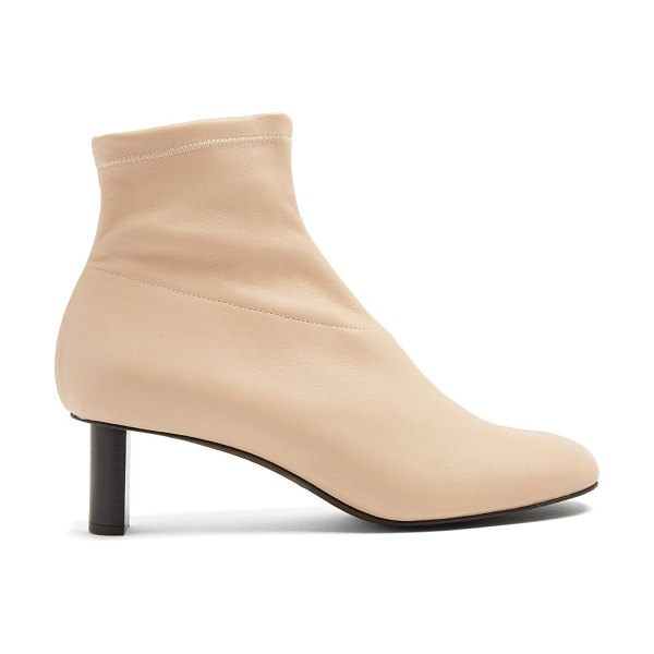 Joseph Round-toe leather ankle boots in cream