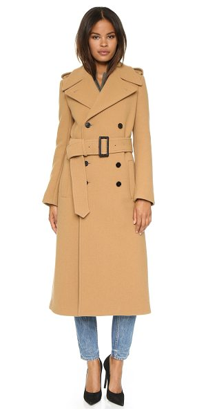 Joseph Townie extra long trench coat in camel - A heavyweight Joseph trench coat with a double breasted...