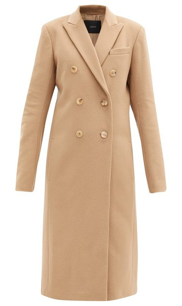 Joseph virgin wool-blend double-breasted coat in camel