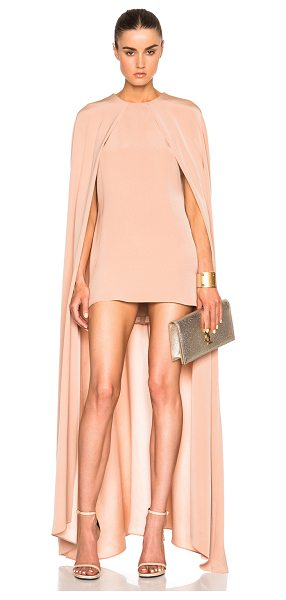 JUAN CARLOS OBANDO FWRD Exclusive Cape Dress - 100% silk.  Made in USA.  Fully lined.  Hidden back zip...