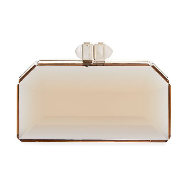 Judith Leiber Couture Faceted Box Clutch Bag in slvr-gold - Judith Leiber Couture clutch in faceted acrylic....