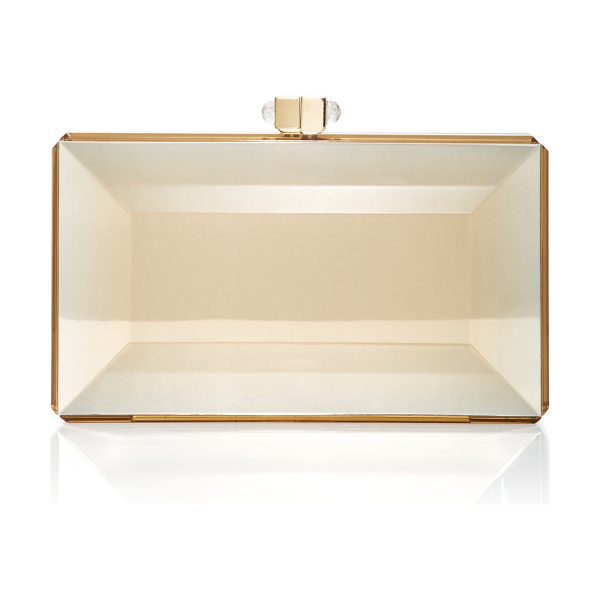 Judith Leiber Couture Reflection Clutch in gold - This *Judith Leiber* clutch is rendered in acrylic and...