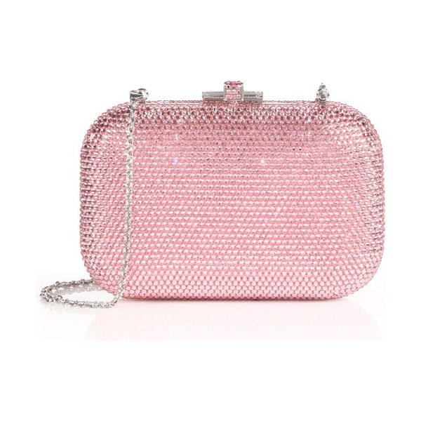 Judith Leiber Crystal-embellished minaudiere in lightrose - A signature design encrusted in sparkling crystals and...