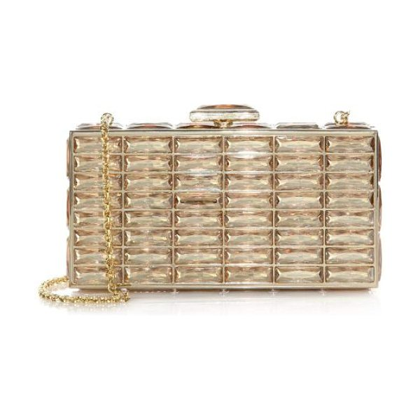 Judith Leiber goddess swarovski crystal clutch in champagne - A stunning evening piece embellished with exquisite...