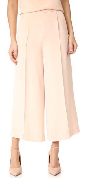 Julianna Bass patsy pants in nude - Sophisticated, pale silk Julianna Bass trousers in a...