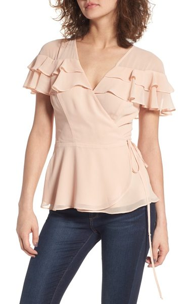 JUNE & HUDSON ruffle wrap top - A gently flared hem complements the layers of ruffles on...