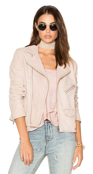 June Vintage MC Jacket in rose - Shell: Genuine leatherLining: 100% poly. Professional...
