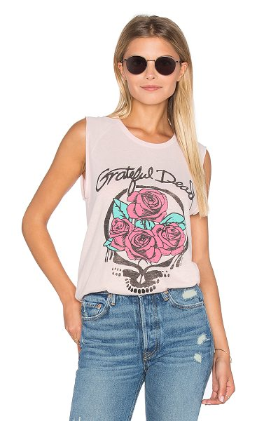Junk Food Grateful Dead Tank in blush - 60% cotton 25% poly 15% rayon. Hand wash. Screen print...