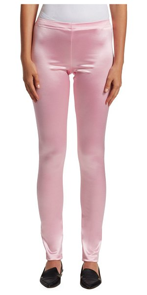 Junya Watanabe nylon satin stretch leggings in pink - Ideal for pairing with the brand's oversize blazers,...