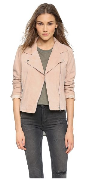 Just Female Came suede jacket in pink - A timeless Just Female moto jacket in rich suede. Zip...