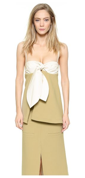 J.w.anderson Knot bustier with spaghetti straps in camel - Description NOTE: Sizes listed are UK. Please see Size &...
