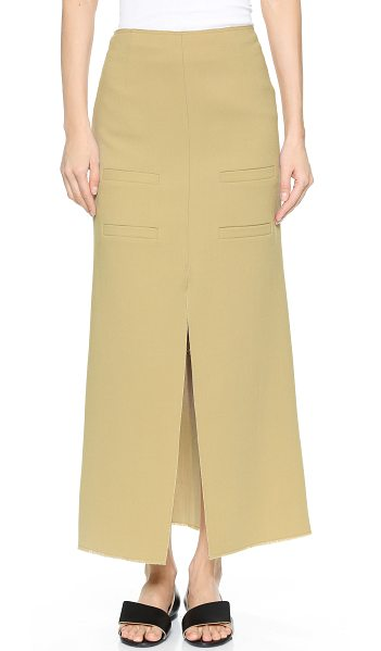 J.W.ANDERSON Long slit front skirt in camel - Description NOTE: Sizes listed are UK. Please see Size &...