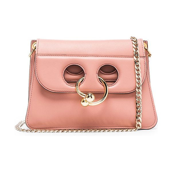 """J.w.anderson Mini Pierce Bag in pink,neutrals - """"Genuine leather with suede lining and gold-tone..."""
