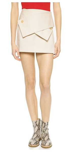 J.w.anderson Wrap miniskirt in cream - Description NOTE: Sizes listed are UK. Please see Size &...