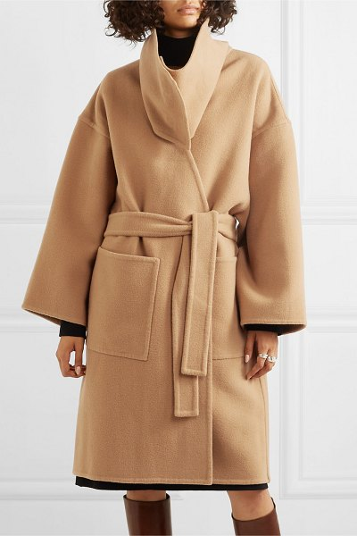 J.w.anderson belted wool and cashmere-blend coat in beige