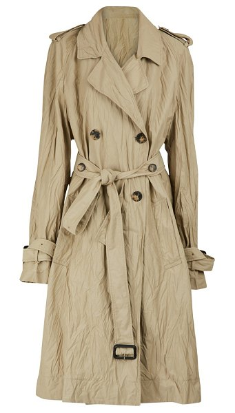 J.w.anderson Crinkle trench coat in hemp