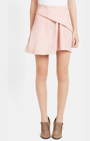 J.w.anderson side drape nappa leather skirt in pink - A deftly angled side pleat adds soft and artful...