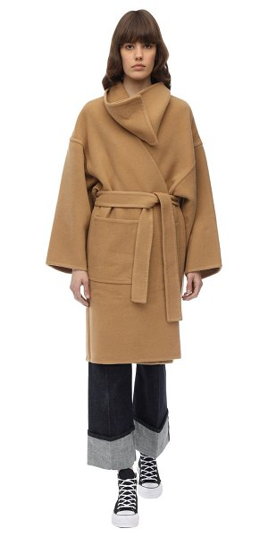 J.w.anderson Wool & cashmere wrap coat in camel
