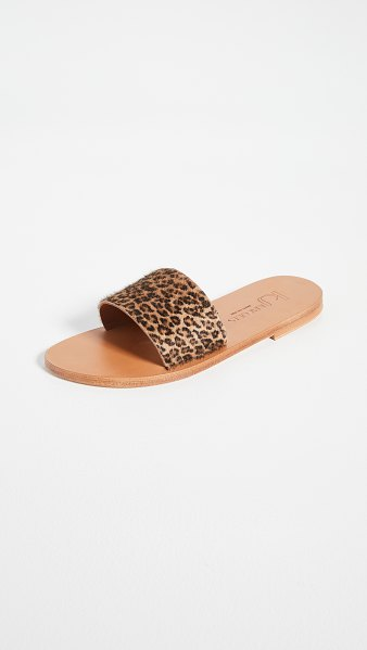 K. Jacques arezzo slides in horsey bableopard