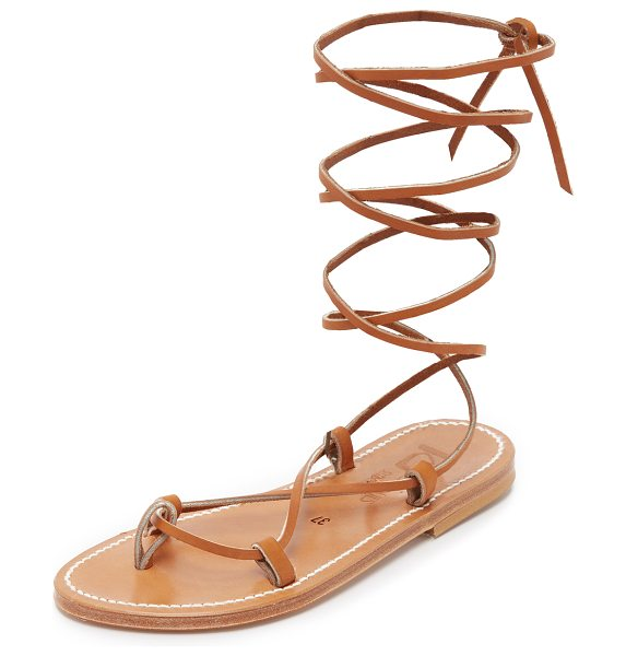 K. Jacques bikini wrap gladiator sandals in pul natural - Classic K. Jacques sandals in metallic leather. Slim...