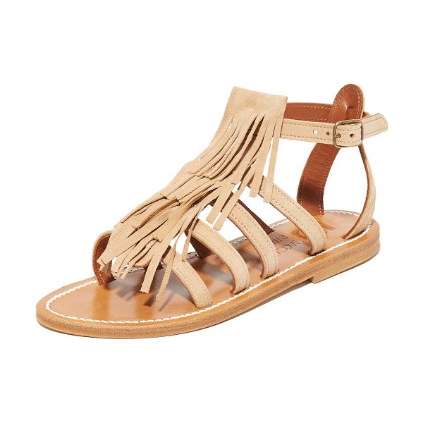 K. Jacques Fregate fringe sandals in velours sultan - Tiered fringe details these smooth suede K. Jacques...