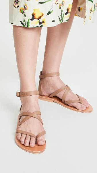 K. Jacques fusain sandals in pul taupe