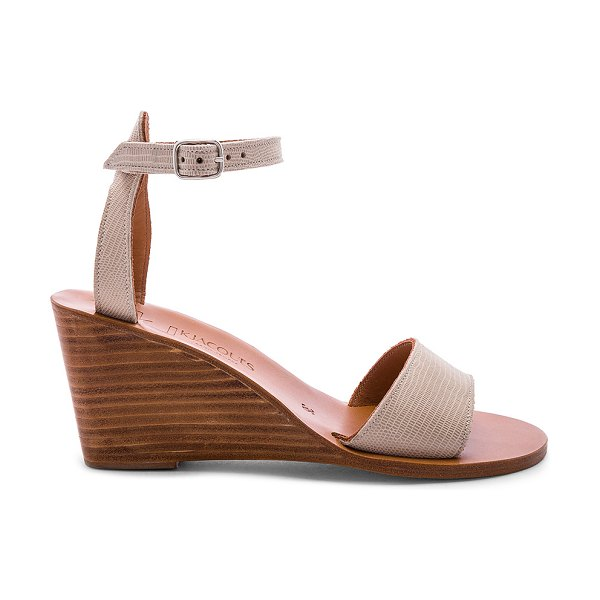 K. Jacques sardaigne wedge in tejus sable