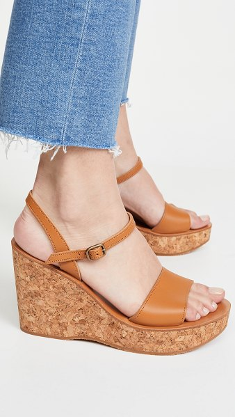 K. Jacques sharon wedge sandals in pul natural