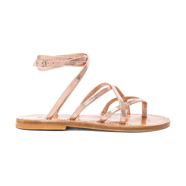 K. Jacques Suede Zenobie Sandals in winter rose - Suede upper with leather sole. Made in France. Wrap...